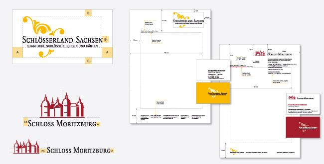 Corporate Design Manual Stylegiude Schlösserland Sachsen